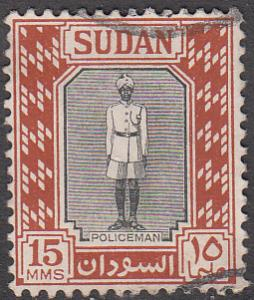 Sudan #104 Used,    variety world stamps