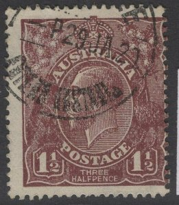 AUSTRALIA SG52 1919 1½d RED-BROWN USED