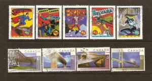 2 SETS OF CANADIAN STAMPS USED -BRIDGES&COMIC BOOK  LOT#176