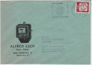 Germany 1964 775 Years Port Hamburg Slogan Elec Meter Illust. Stamps Cover 29549