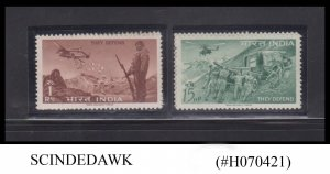 INDIA - 1963 DEFENCE CAMPAIGN - 2V - MINT HINGED