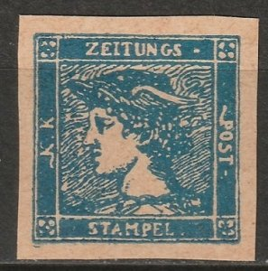 Austria 1866 Sc P1 newspaper reprint/forgery MNH** toned