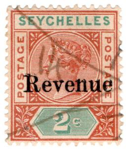 (I.B) Seychelles Revenue : Internal Revenue 2c (1902)