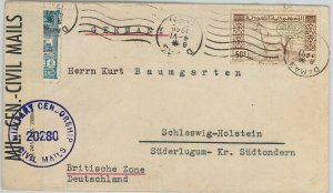 58935 - SYRIA  - POSTAL HISTORY: Yvert # 295 on COVER to GERMANY 1946 - HORSES