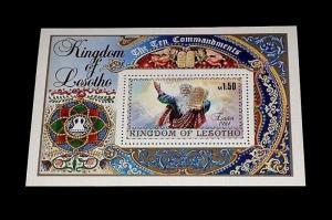 LESOTHO #438, 1984, EASTER, SOUVENIR SHEET, MNH, NICE! LQQK