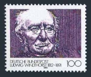 Germany 1628,MNH.Michel 1510. Ludwig Windthorst,1812-1891,politician,1991.