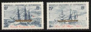 New Caledonia 466-7 MNH Sailing Ships
