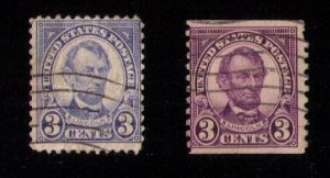US Sc 555 & Sc 600 Used Whereas The Sc 555 has Color Changeling Error F-VF