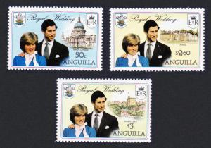 Anguilla Charles and Diana Royal Wedding 3v SG#464-466 SC#444-446