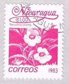 Nicaragua Flower 100 - pickastamp (AP108702)