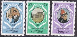 Antigua # 623-625, Royal Wedding, NH, 1/2 Cat.