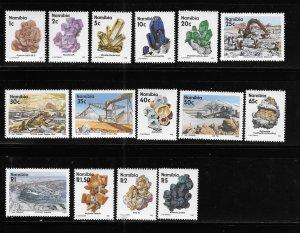 Namibia 1991 Minerals Mine Sc 674-689 MNH A1786