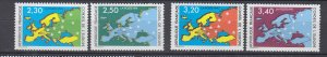 J29324, 1990-1 france set mnh #1o47-50 map