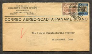 p120 - COLOMBIA 1932 SCADTA Airmail Cover to USA