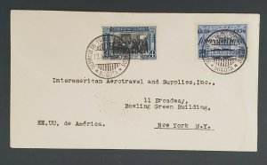 1930 Bogota Colombia to New York Airline Supplies Commercial Air Mail Cover