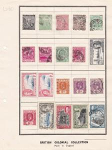 CAPE GOOD HOPE , CEYLON & CAYMAN  STAMPS ON 1 OLD ALBUM PAGE  . REF R 1958