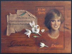 Liberia MNH S/S Diana The Princess Of People's Hearts 1998
