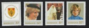 Barbados   mnh   s.c.# 585-588