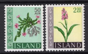 Iceland 393-394 Flowers MNH VF