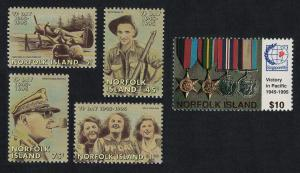 Norfolk 50th Anniversary of End of Second World War in the Pacific 5v SG#602-606
