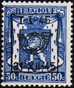 Belgium. 1945 50c Pre-Cancel. Unmounted Mint