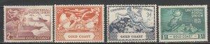Gold Coast - 1949 UPU Sc# 144/147 - MH (7001)
