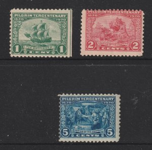 USA the 1920 Pilgrim set MNH