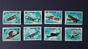 Aviation - Planes - Rwanda 1978. - complete set ** MNH