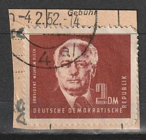#57 Germany DDR Used on paper