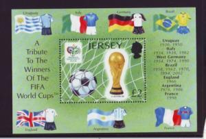 Jersey Sc 1216 2006 World Cup Soccer stamp sheet mint NH