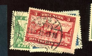 GERMANY #337-339 USED F-VF Cat $14