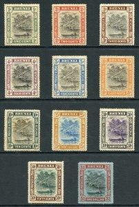Brunei SG23/33 1907 Set of 11 Wmk Mult Crown M/Mint (Brown Gum)