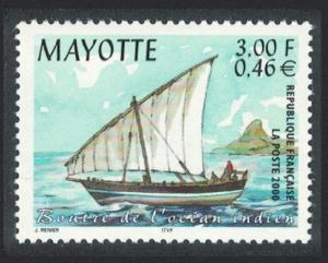 Mayotte sailing Boat Indian Ocean SG#102