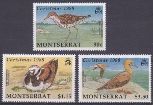 1988 Montserrat 731-733 Christmas / Birds of Montserrat 8,50 €