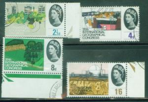 Great Britain Scott 410-13 used stamp set