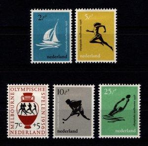 Netherlands 1956 16th Olympic Games, Melbourne Set [Unused]