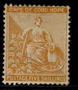 SOUTH AFRICA - Cape of Good Hope QV SG68, 5c brown-orange, M MINT. Cat £150.