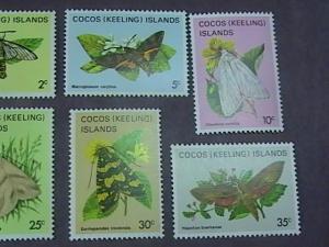 COCOS ISLANDS # 87-102 -MINT/NEVER HINGED---COMPLETE SET--BUTTERFLIES--1982