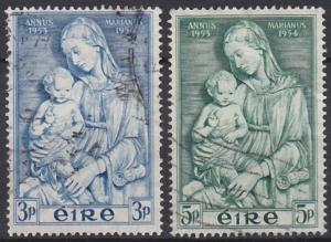 Ireland 151-152 used (1954)