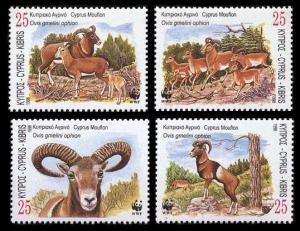Cyprus WWF Mouflon 4v SG#941-944 MI#914-917 SC#920-923