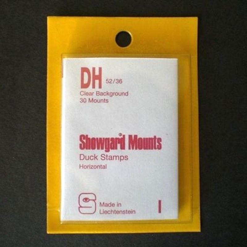 Showgard Stamp Mounts Size DH 52 / 36 CLEAR Background Pack of 30