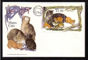 Isle of Man Sc 676a 1996 Cat stamp sheet FDC