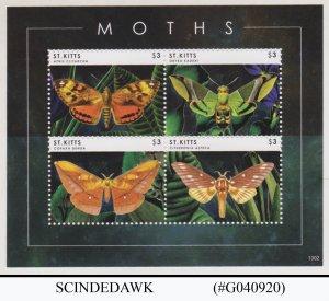 ST. KITTS - 2013 MOTHS / INSECTS / BUTTERFLIES  MIN/SHT MNH