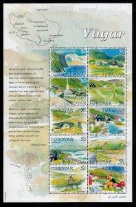 Faroe Islands - 2005 -Vagar Island stamp sheet MNH # 453