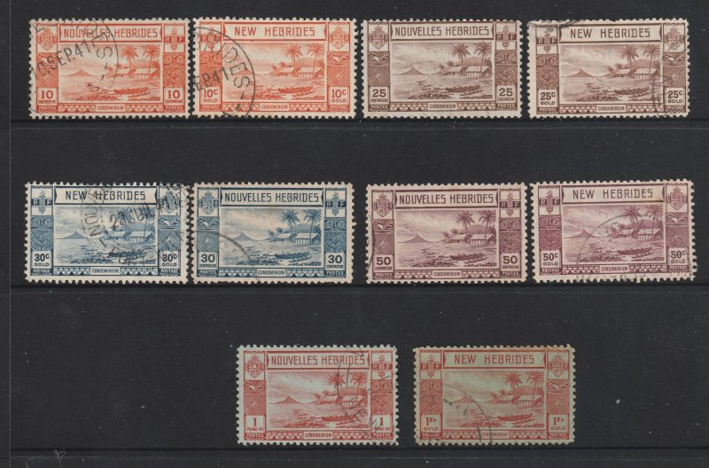 New Hebrides a small lot both French & British from 1938