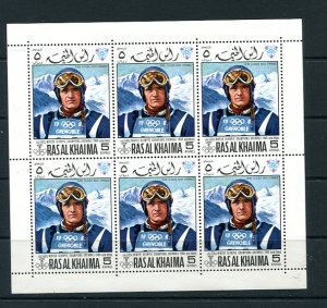 Olympic Games 1968 2 Sheets  each 6 stm Peggy Flaming Jean-Claude Killy MNH 8733