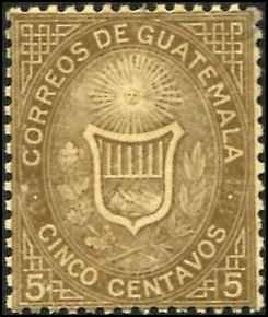 Guatemala SC# 2 Coat of Arms 5c mint no gum SCV $9.00