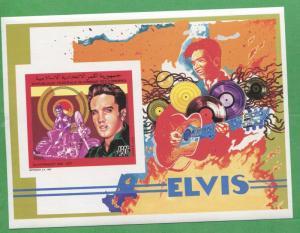 Elvis Presley Commemorative African Souvenir Stamp Sheet Comoro Islands E9