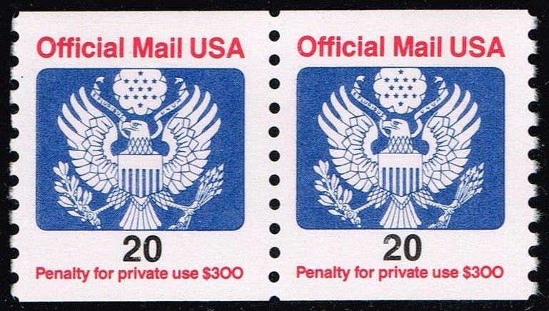 US #O138B Official Mail Coil Pair; MNH (1.00)