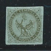 French Colonies 1 1859-65 1c Eagle single MLH (z1)